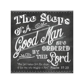 Psalm-37:32 der Vatertags-eingewickelte Leinwand Leinwanddrucke