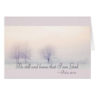 Psalm-46:10 ist noch und weiß, dass ich Gott, Karte