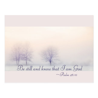 Psalm-46:10 ist noch und weiß, dass ich Gott, Postkarte