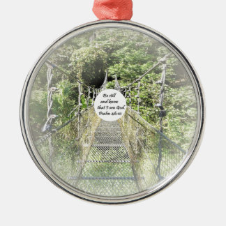 Psalm-46:10 Rundes Silberfarbenes Ornament