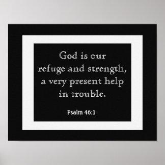 Psalm-46:1 --- Kunst-Druck-- Buch der Psalme Poster