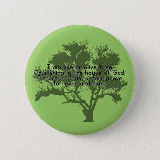 Psalm-52:8 Runder Button 5,7 Cm