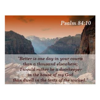 Psalm-84:10 Schrifts-codierte Karte