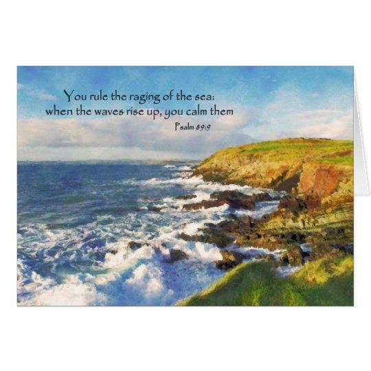 Psalm-89:9 Klippen am Galeeren-Kopf, Korken Irland Grußkarte
