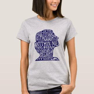 Psalm-94:19: Der Komfort-der Damen des Gottes Blau T-Shirt