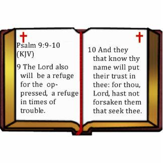 Psalm-9:9 - 10 freistehende fotoskulptur