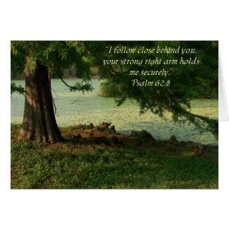 Psalm des Komforts Grußkarte