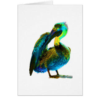 Psychadelic junge Pelikan-Reinigung Karte