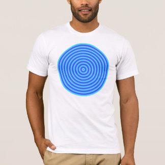 Psychedelische blaue Neonkreise T-Shirt