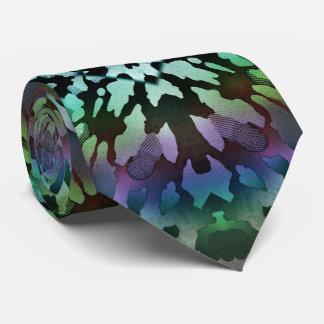 Psychedelische grüne Krawatten-wilde Stammes- Krawatten