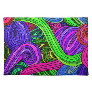 Psychedelische Linien (Grün) Tischset