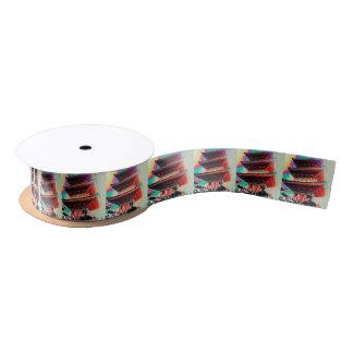 Psychedelische Pagoden-Geschenk-Verpackungs-Reihe Satinband