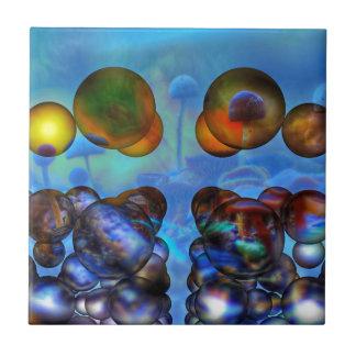 Psychedelische Pilze Kleine Quadratische Fliese