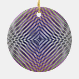 Psychedelische Pyramide-Plan-Verzierung Keramik Ornament