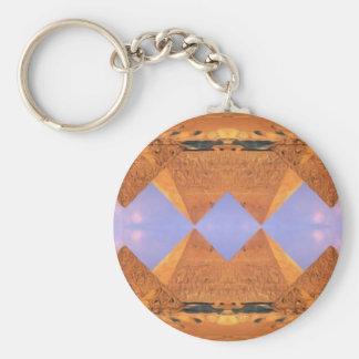 Psychedelische Pyramiden Standard Runder Schlüsselanhänger