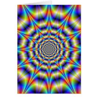 Psychedelische Rad-Gruß-Karte Karte