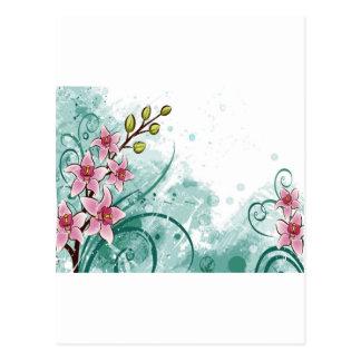 psychedelische schöne Blume abstrakt Postkarte