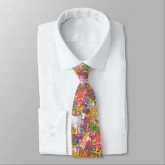 Psychedelische Ziege Bedruckte Krawatte