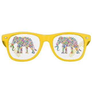 Psychedelischer Elefant Retro Sonnenbrillen