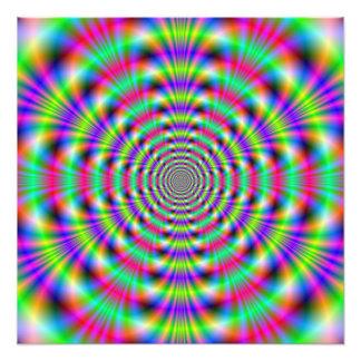 Psychedelischer Ring-Foto-Druck