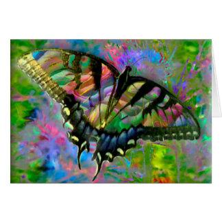 [Psychedelischer Schmetterling] bunt [freier Raum Grußkarte