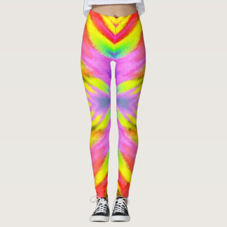 Psychedelisches buntes aerobes Training Leggings