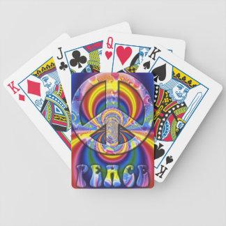 Psychedelisches Friedenszeichen Spielkarten