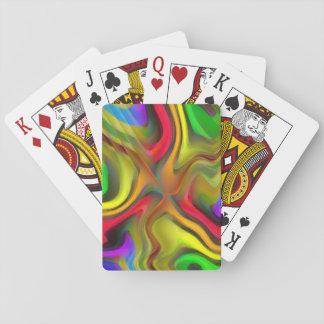 Psychedelisches Frühstück Pokerkarten