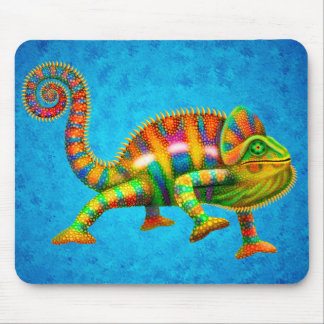 Psychedelisches Panther-Chamäleon Mousepad