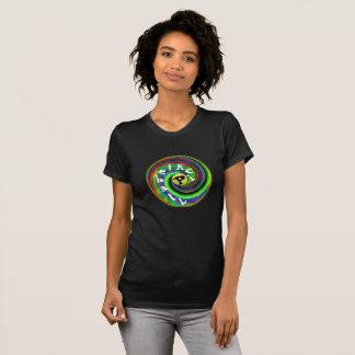 Psychedelisches Pickleball T-Stück T-Shirt