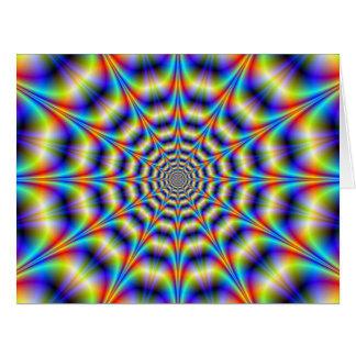 Psychedelisches Rad-große Gruß-Karte Karte