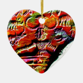 Psychedelisches Shiva Pashupatinath Symbol Harappa Keramik Herz-Ornament