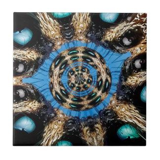 Psychedelisches Spinnen-Portal Kleine Quadratische Fliese