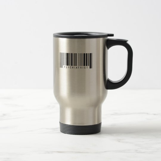 Psychiaters-Barcode Edelstahl Thermotasse