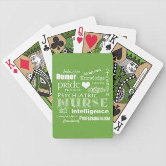 Psychiatrisches Grün der Krankenschwester-Pride-/L Bicycle Spielkarten