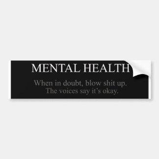 Psychische Gesundheiten Autoaufkleber