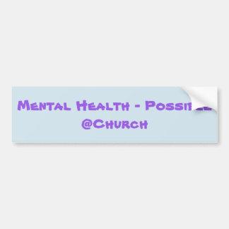 Psychische Gesundheiten - möglicher @Church Autoaufkleber