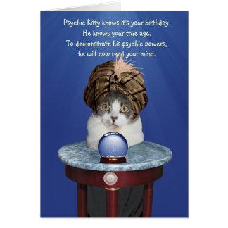 Psychischer Mikie lustiger Geburtstag Karte