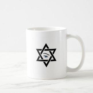 psychisches Auge innerhalb eines Davidssterns Kaffeetasse