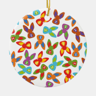 Psychisches Ostern-Muster bunt Rundes Keramik Ornament