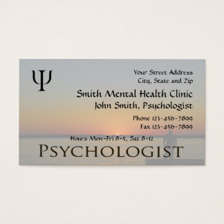 Psychologe-Gesundheits-Visitenkarte Visitenkarte