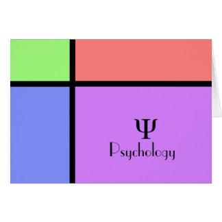 Psychologie-Mitteilungskarten Karte