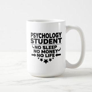 Psychologie-Student kein Schlaf kein Geld kein Kaffeetasse
