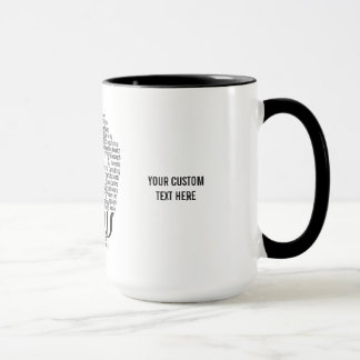 PSYCHOLOGIE Wort-Wolkengewohnheits-Tassen Tasse