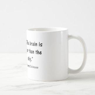 """Psychologie-Zitate:  """"Das Gehirn ist breiter als. Kaffeetasse"""