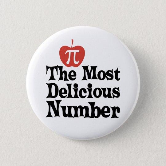 PU-Tag 3,14 - die köstlichste Zahl Runder Button 5,7 Cm