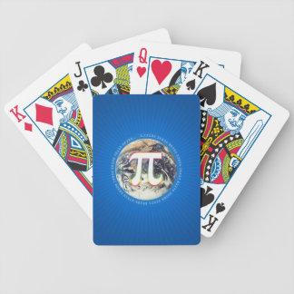 PU-Zahl auf blauen Spielkarten der Erde|