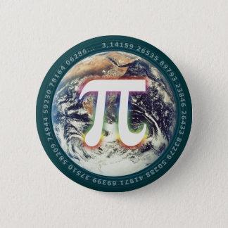 PU-Zahl auf Mathe der Erde| Runder Button 5,7 Cm