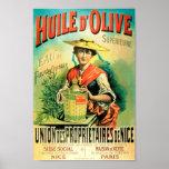 Publicité française d'huile d'olive rétro poster