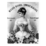 Publicité suédoise vintage de corset cartes postales